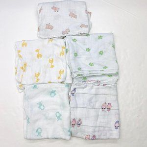 Aden + Anais Swaddle Baby Blanket Lot of 5